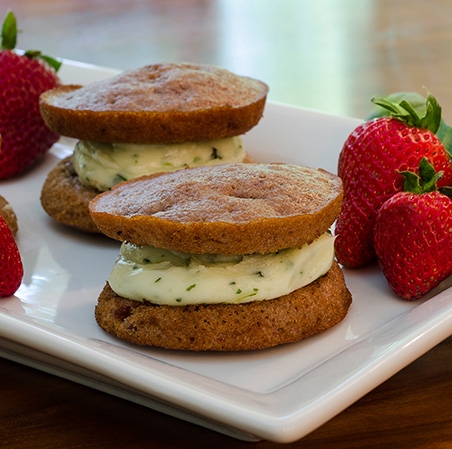 Strawberry Basil Whoopie Pie